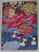 1955 They Taste so Good Planters Peanut Butter Oil Idea Recipe Cook Book Booklet