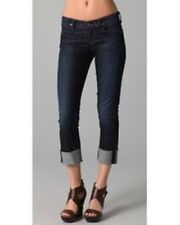 NWOT Citizens of Humanity Dark Stretch Dani Cuffed Cropped Straight Jeans 28 NEW