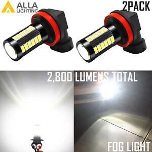 Alla Lighting LED H8 Cornering Light Bulb 6000K Super White Replacement Upgrade