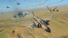 Robert Taylor F4 Phantom print Double Strike signed by 22 IAF pilots, navigators