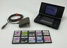 Nintendo DS Lite Red Handheld System Console Bundle W/11 Games Charger