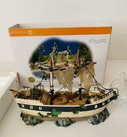Dept 56 Snow Village Halloween The Spooky Schooner Ship Decoration #55087