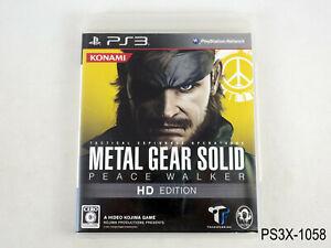 Metal Gear Solid Peace Walker HD Edition Playstation 3 Japanese Import US Seller