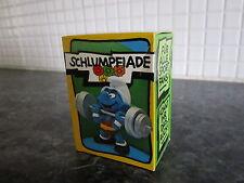 Smurfs Weightlifter Super Smurf vintage Rare