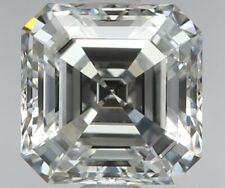 FLAWLESS Clarity - 0.58 Ct Asscher Cut Diamond - Non - Treated Diamonds For Sale