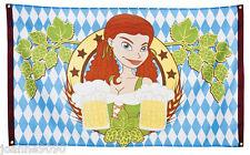 Oktoberfest Bavarian German Beer Waitress Flag Banner Decoration 150cm x 90cm BN