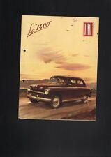 N°3308/  FIAT : grand dépliant berline 1400   1951   texte français