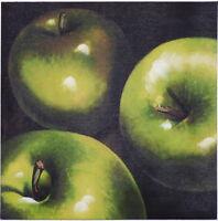 Äpfel - hochwertiger Leinwanddruck Kunstwerk Kunstdruck Bild Gemälde Obst Küche