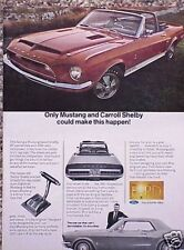 1968 68 Shelby GT 500 Ford Mustang ORIGINAL Vintage Ad CMY STORE   5+= FREE SHIP