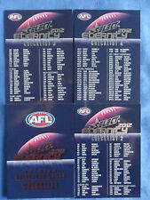 2012 SELECT ETERNITY AFL CARDS CHECKLIST 1, 2, 3, & 4 SET