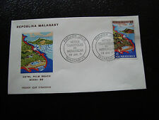 MADAGASCAR -enveloppe 23/7/71- hotel palm beach nossi be - yt n° 490 -(cy4)(Z