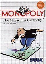 Monopoly Mega-Plus Cartridge (Sega Master System, 1988) COMPLETE W Manual Poster