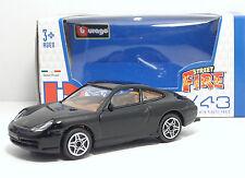 """Bburago 30000 Street Fire PORSCHE 911 Carrera 4 """"Nero"""" - METAL Scala 1:43"""