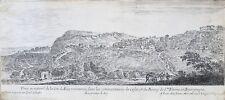 Eau-forte, Israël Silvestre (1621-1691) Vue de la Cité d'Alise