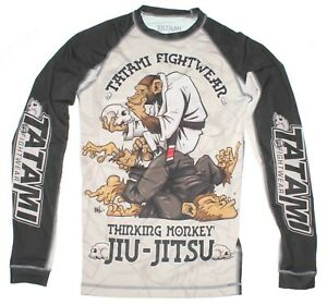 Tatami Fightwear Thinking Monkey Jiu-Jitsu Long Sleeve Rash Guard Men's Size Sm