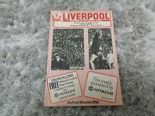 149) Liverpool v CSKA Sofia programme european cup 4-3-1981