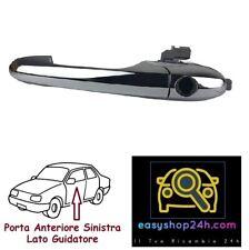MANIGLIA ESTERNA PER FIAT 500 2007 2014 APRI PORTA ANTERIORE SINISTRA CROMATA