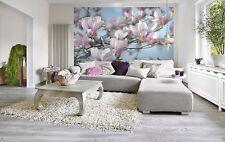 Mural de Pared Foto Wallpaper Flor De Magnolia Flores Decoración de la sala de estar 368x254cm