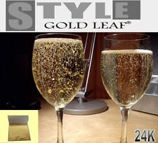 24ct Edible Gold Leaf 10 sheets - Champagne, Drinks, Cake Topping and Jelly