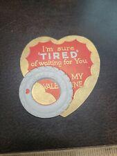 Vintage 1920s Automobile Ballon Tire Theme Valentines Day Card