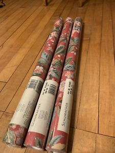 SCHUMACHER - Floral print Washable Strippable Wall Paper - 3 DOUBLE ROLLS NEW