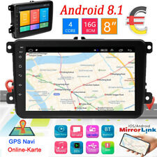 "2DIN 8"" Autoradio Android 8.1 GPS Navi Für VW GOLF 5 PASSAT POLO Caddy + EU Map"