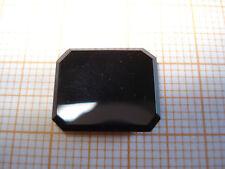 Ringstein Onyx rechteckig ca. 14x12mm schwarz, hochglanzpoliert, Baguetteschliff