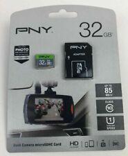 PNY Adapter Dash Camera microSDHC Card 32 GB Flash Memory Card Class 10 U1 speed