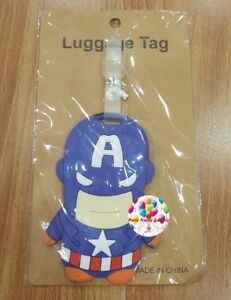 Party : Captain America Travel Luggage Bag Tag Party Giveaways