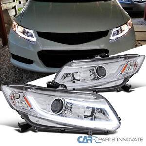For 12-15 Honda Civic 2/4Dr Coupe Sedan Clear Projector Headlights+LED DRL Bar
