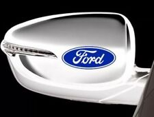Ford Logo Wing Mirror Vinyl Stickers In Blue