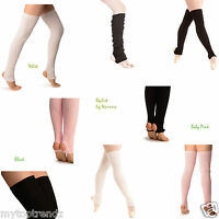 Extra Long Stirrup Leg Warmers Stirruped Dance / Ballet Leg Warmer   [UK SELLER]