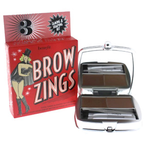 Benefit Brow Zings Eyebrow Tame Shape Fill Wax Powder Tweezer #3 Light Brown