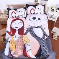 The Nightmare Before Christmas Jack Sally Duvet Cover Bedding Set Pillow Case