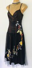 Stunning Karen Millen Embroidered Corset Net Tutu Dress Size 12 14