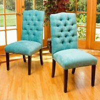 Clark Teal Fabric Dining Chair (Set of 2)