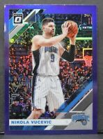 2019-20 Donruss Optic Nikola Vucevic Purple Prizm Card Orlando Magic Parallel 35