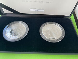 2021 Britannia Two-Coin Silver Proof Reverse Frosted Set