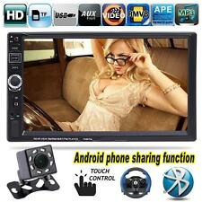 """Camera + 7"""" Double 2DIN Bluetooth Car Stereo Radio MP3 MP5 Player FM Mirror Link"""