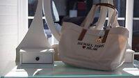 Michael Kors City Tote Women's Ladies Handbag Natural Satchel Genuine Shop Bag