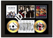 1D ONE DIRECTION - A3 SIGNED FRAMED GOLD VINYL COLLECTORS CD DISPLAY PICTURE