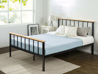 Zinus Brianne Metal and Wood Platform Bed