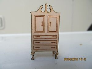 DOLLHOUSE MINIATURE QUARTER SCALE BEDROOM ARMOIR