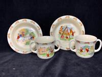 4 Piece Vintage Royal Doulton BUNNYKINS 1936 Bowl & Double Handled Mug