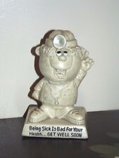 """Vintage W R Berries Cos.1970 Figurine Doctor """"Being Sick Is Bad For Your Health"""""""