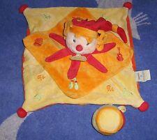 Doudou et Compagnie clown Do Re Mi  plat tambour jaune orange rouge en TBE