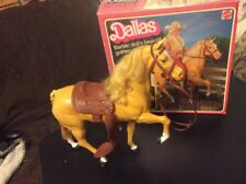 Barbie Western Horse DALLAS 3312 w/box Mattel 1980 Missing Parts Tail Braided