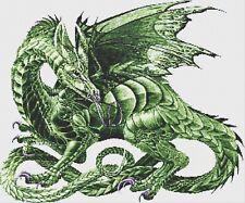 GREEN DRAGON # 1 - COUNTED CROSS STITCH CHART