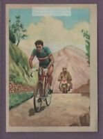 Spain's Bahamontes 3 Time 'King of the Mountain' Tour De France Vintage Ad Card