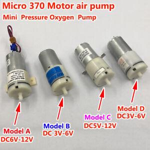 DC 3V-12V 6V 9V Mini 370 Motor Air Pump Oxygen Pump For Water Aquarium Fish Tank